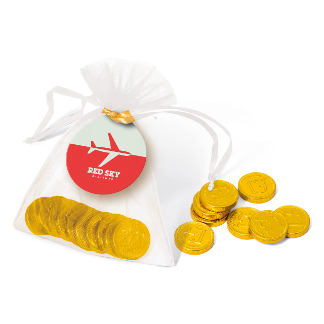 Organza Bag – Chocolate Coins