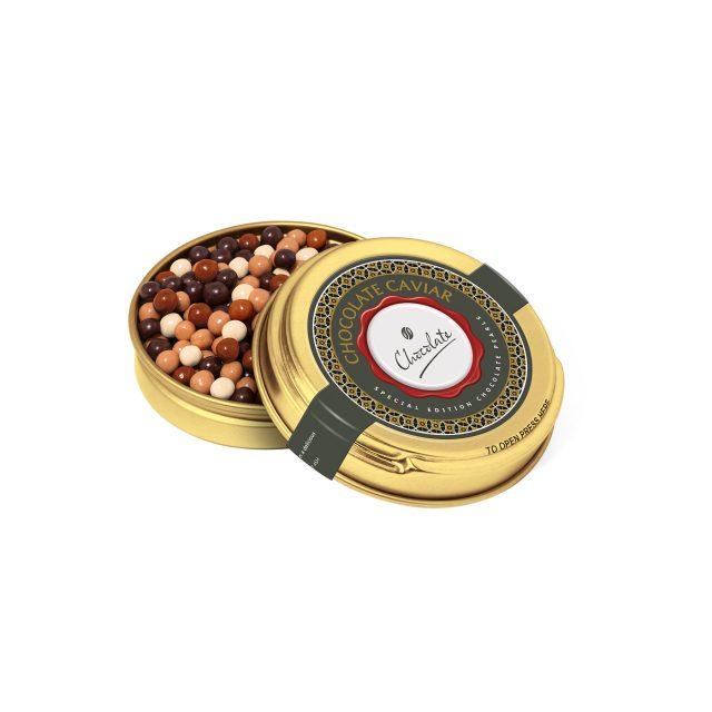 Caviar Tin – Gold – Chocolate Pearls