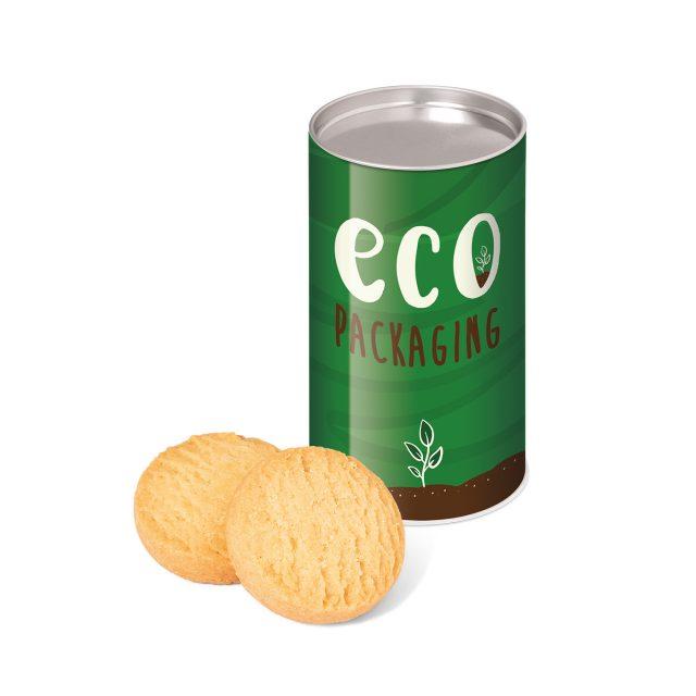 Eco Range – Small snack tube – Mini Shortbread Biscuits