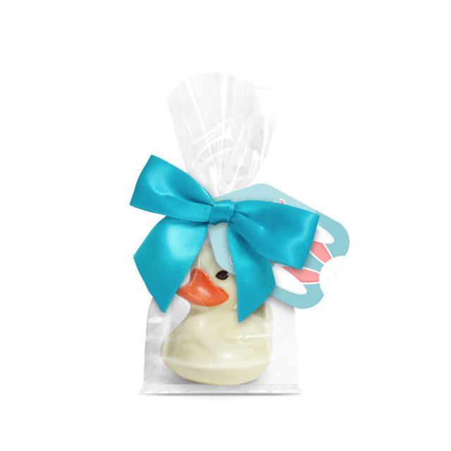 Easter – Large Block Bottom Bag – Belgian white chocolate duck – White