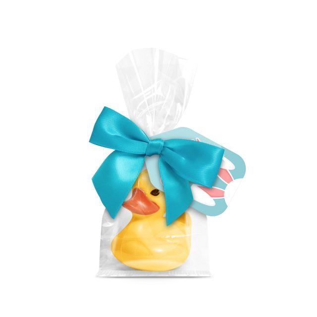 Easter – Large Block Bottom Bag – Belgian white chocolate duck – Yellow
