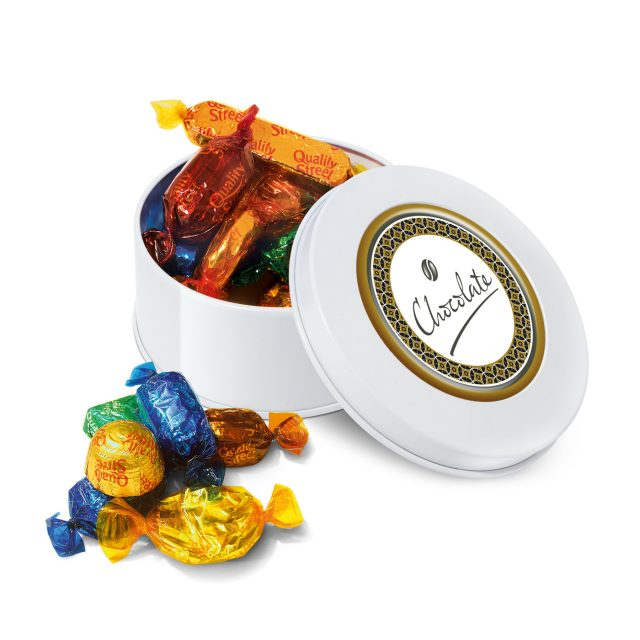 Treat Tin – White – Quality Street