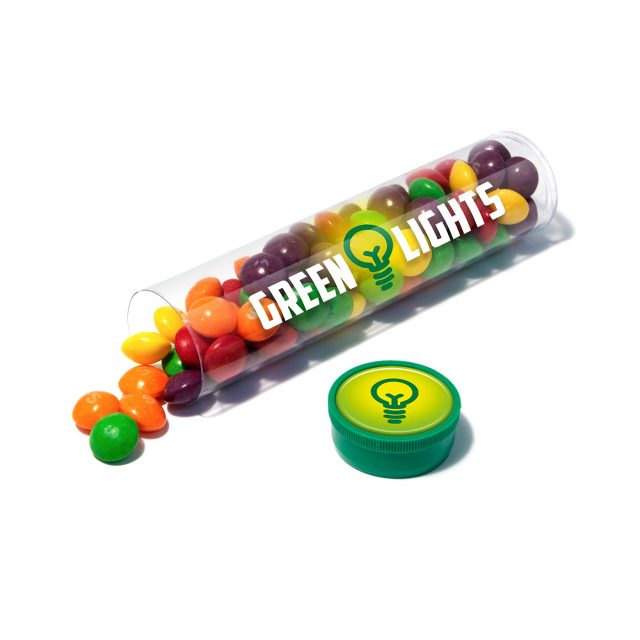 Clear Tube Maxi – Skittles