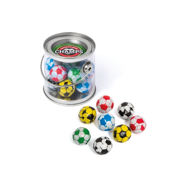 Bucket Mini – Chocolate Footballs