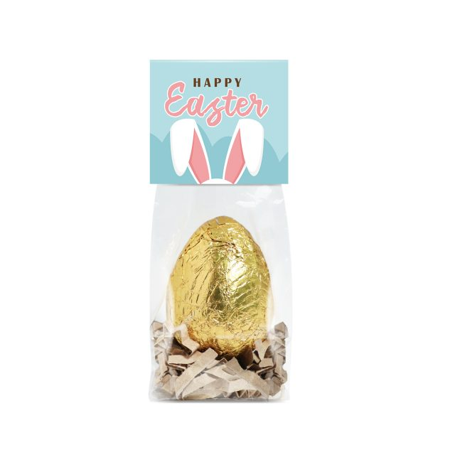 Easter – Small Block Bottom Bag – Gold foiled egg