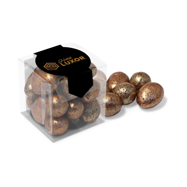 Chocolate – Clear Cube – Chocolate Coated Honeycomb