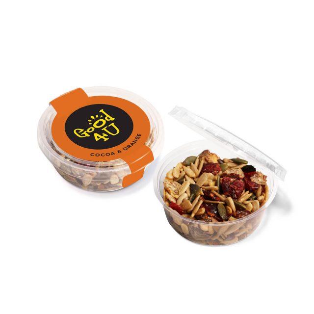 Midi eco pot – Cocoa & Orange Snacks
