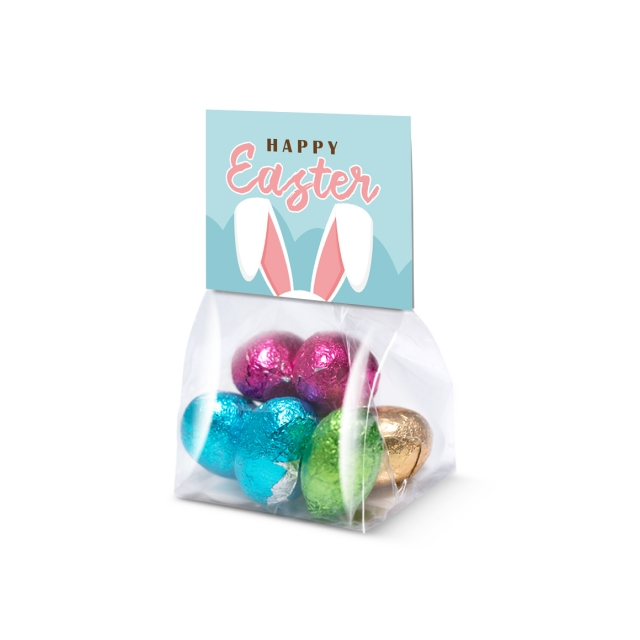 Eco Range – Block Bag – Mini – Foiled Chocolate Eggs