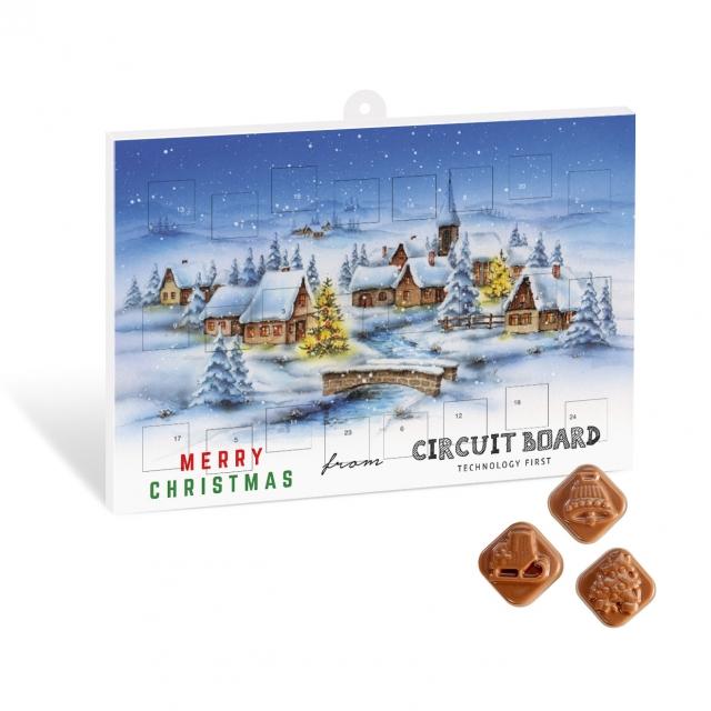 Christmas – Festive Print Calendar – Milk Chocolate – Maxi