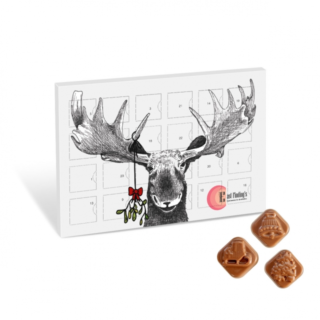 Christmas – Festive Print Calendar – Milk Chocolate – Mini