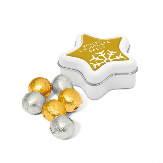 Winter Collection – Star Tin – Foiled Chocolate Balls