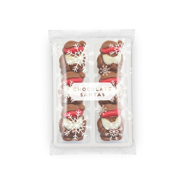 Winter Collection – Flow Wrapped Tray – Milk Chocolate Santas