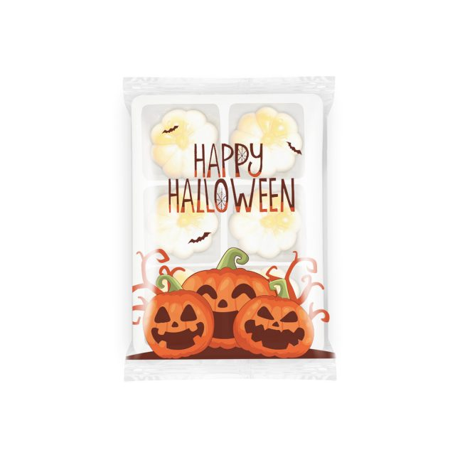 Halloween – Flow Wrapped Tray – White Chocolate Pumpkin