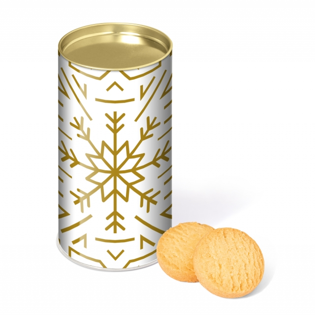 Winter Collection – Large Snack Tube – Mini Shortbread Biscuits