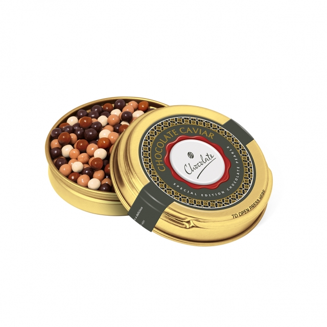 Caviar Tin – Gold – Chocolate Pearls