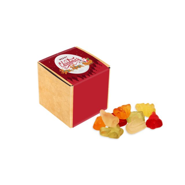 Christmas – Eco Kraft Cube – Kalfany Christmas Fruit Gums