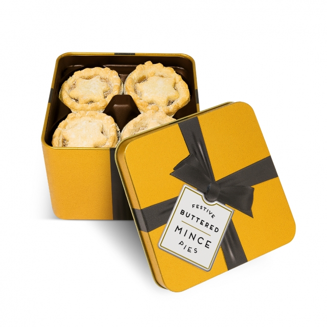 Winter Collection – Large Gold Tin – Mince Pies