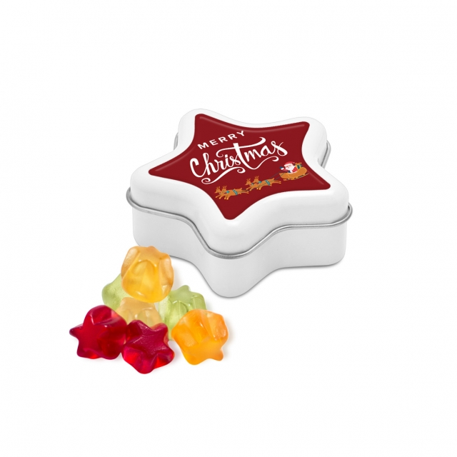 Christmas – Star Tin – Kalfany Star Fruit Gums