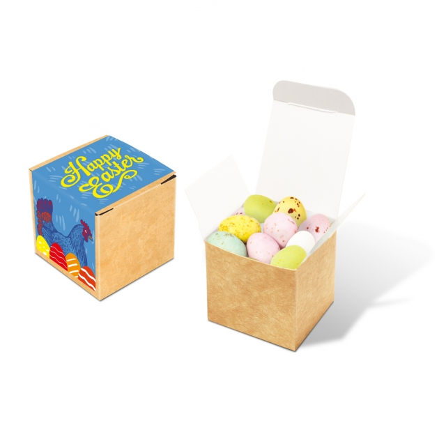 Easter – Eco Kraft Cube – Speckled Eggs
