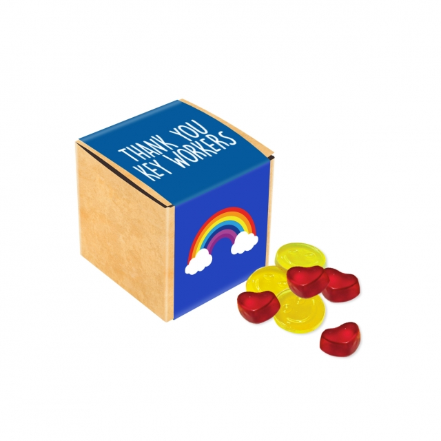 Available Now – Eco Kraft Cube – Kalfany Fruit Gums – 40g