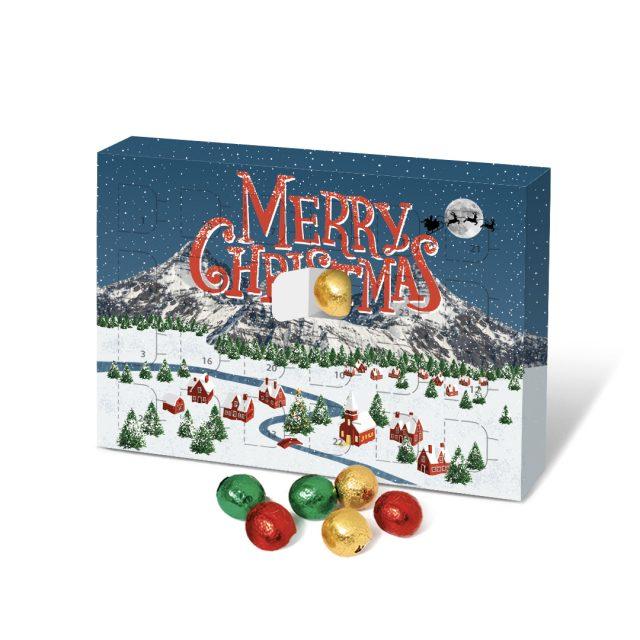 Eco Advent – A5 Calendar – Solid Chocolate Balls