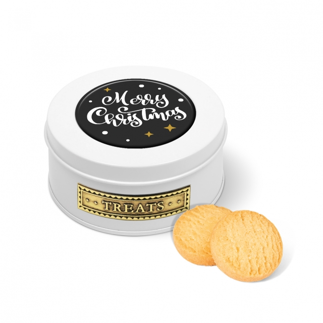 Winter Collection 2020 – Treat Tin – Mini Shortbread Biscuits – White
