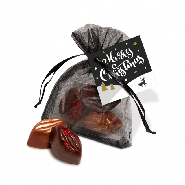 Winter Collection 2020 – Organza Bag – Cocoa Bean Truffles