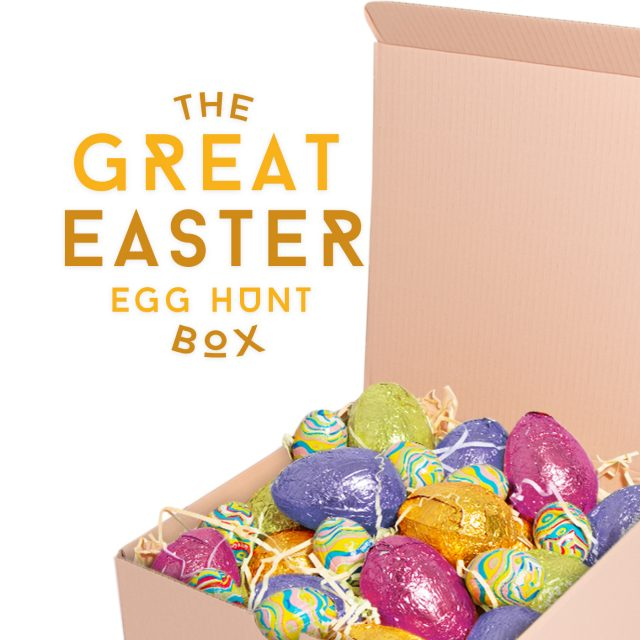 Easter – Great Easter Egg Hunt Box – Foiled Eggs – NEW