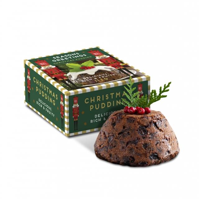 Winter Collection – Eco Mini Pudding Box – 113g Christmas Pudding